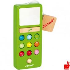 Groene houten telefoon met geluid, Janod