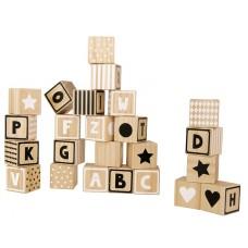 Houten alfabetblokken, JaBaDaBaDo