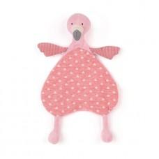 Lulu flamingo knuffeldoekje, Jellycat