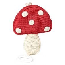 Gehaakte muziekdoos paddenstoel met trekkoord, Anne-Claire Petit