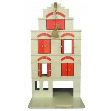 Groot houten pakhuis met takel rood, Van Dijk