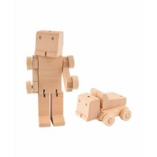 Transforfun houten robot-truck