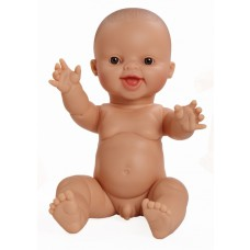 Babypop lachende blanke jongen 34 cm, Paola Reina