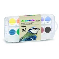 Waterverf 12 kleuren, Primo Pro