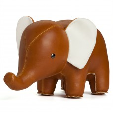 Deco presse-papier bruine olifant, Zuny