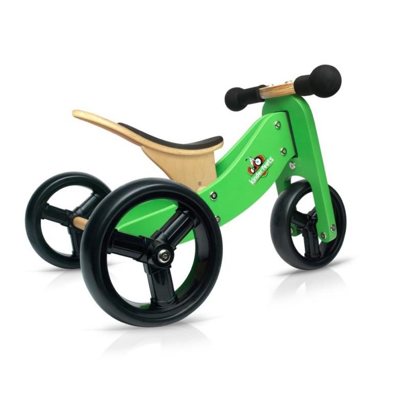 Tiny Tot 2-in-1 loopfiets groen, Kinderfeets