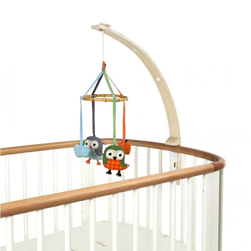 Baby Amuse mobielhouder blank hout, Franck & Fischer