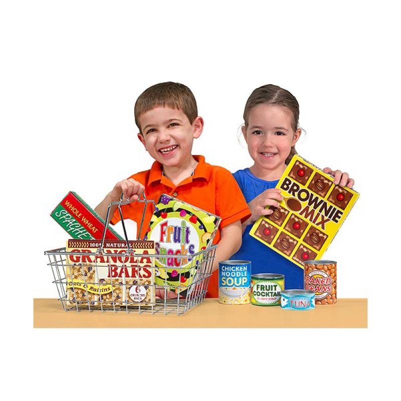 Speelset eten in winkelmandje, Melissa & Doug