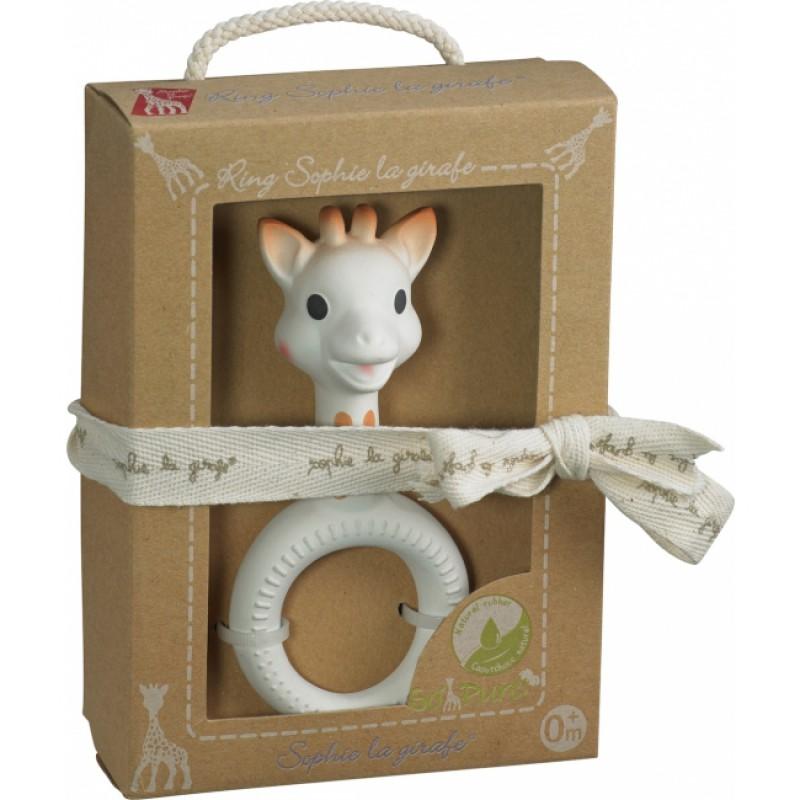 Sophie de Giraf So'Pure bijtspeeltje met ring