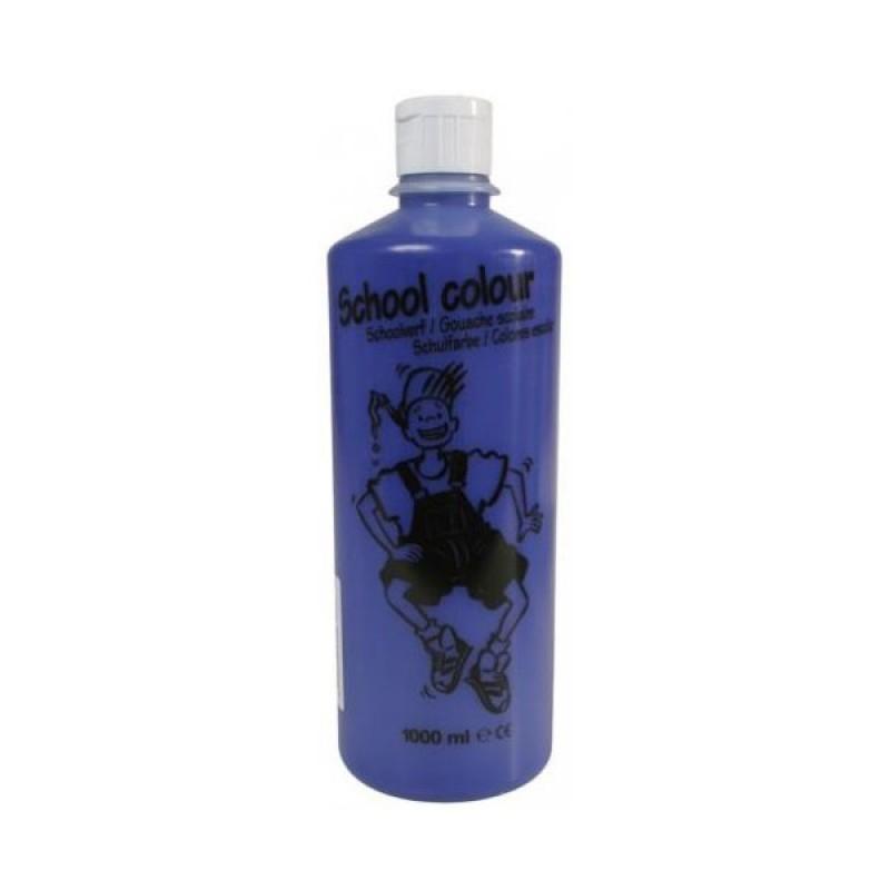 Talens schoolverf donkerblauw, 1 liter