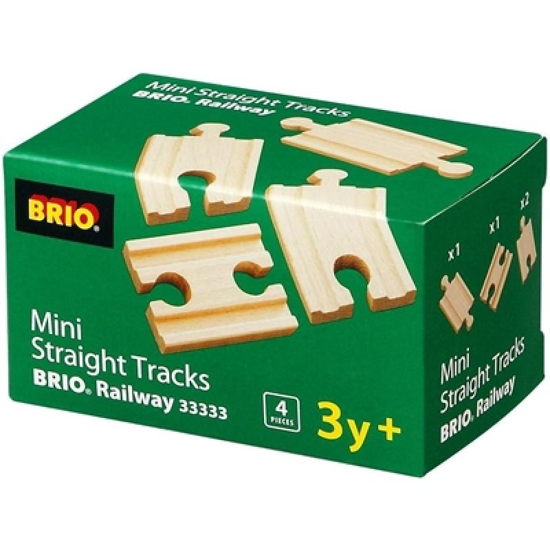 Mini rechte rails 1/4, Brio