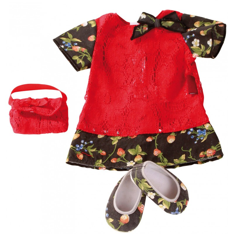 Dubbele set poppenkleding Strawberry Season, Goetz