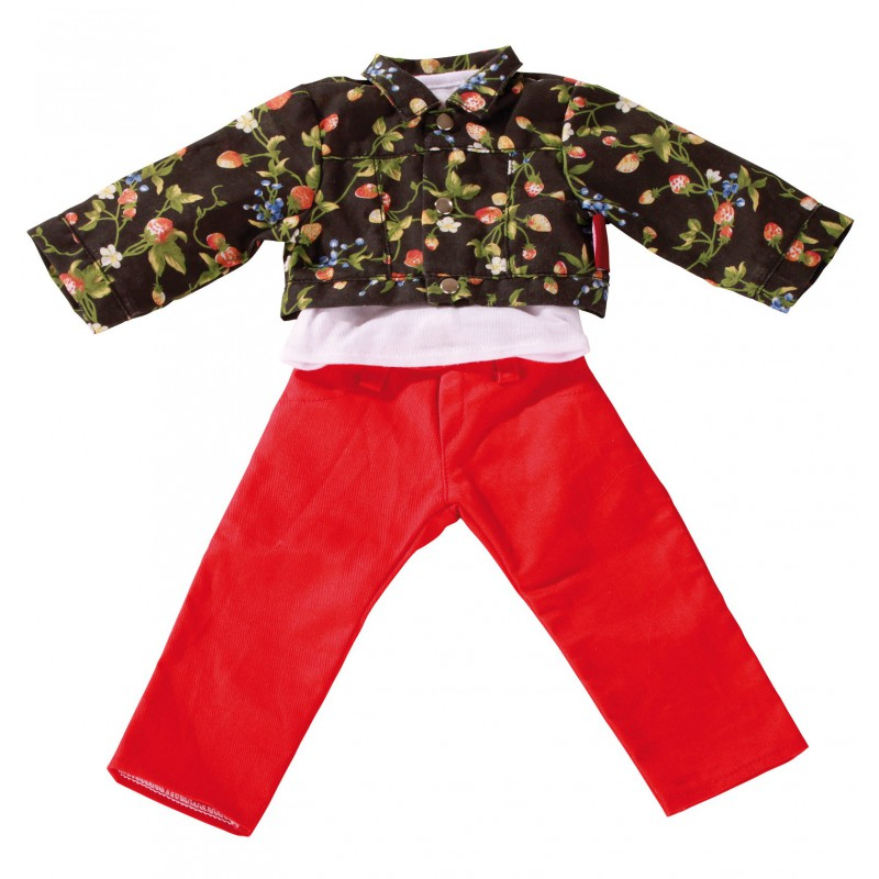 Dubbele kledingset Strawberry Season pop XL, GoetzDubbele set poppenkleding Strawberry Season, Goetz