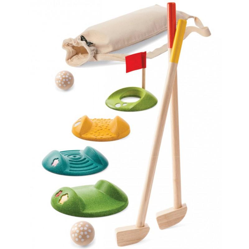 Houten minigolf set, Plan Toys