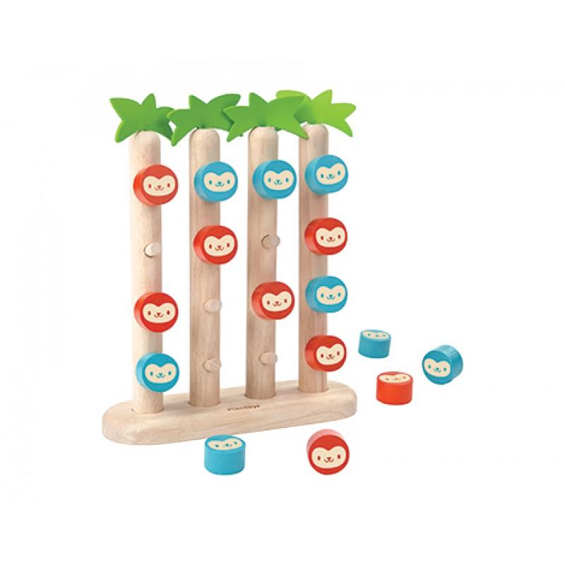4 Aapjes op een Rij, Plan Toys