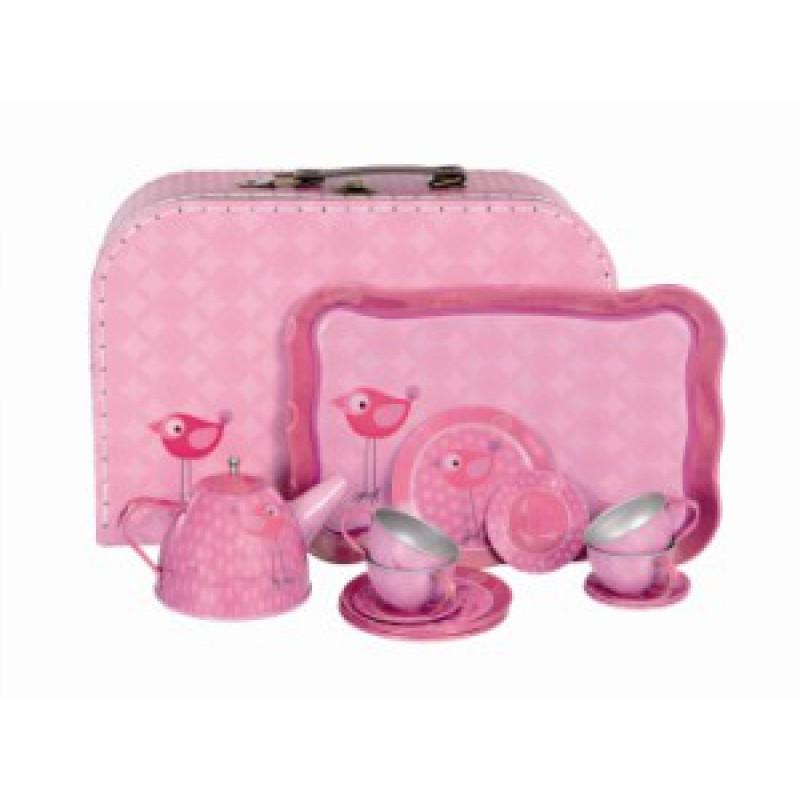 Blikken serviesje Vogel in koffer, Egmont Toys