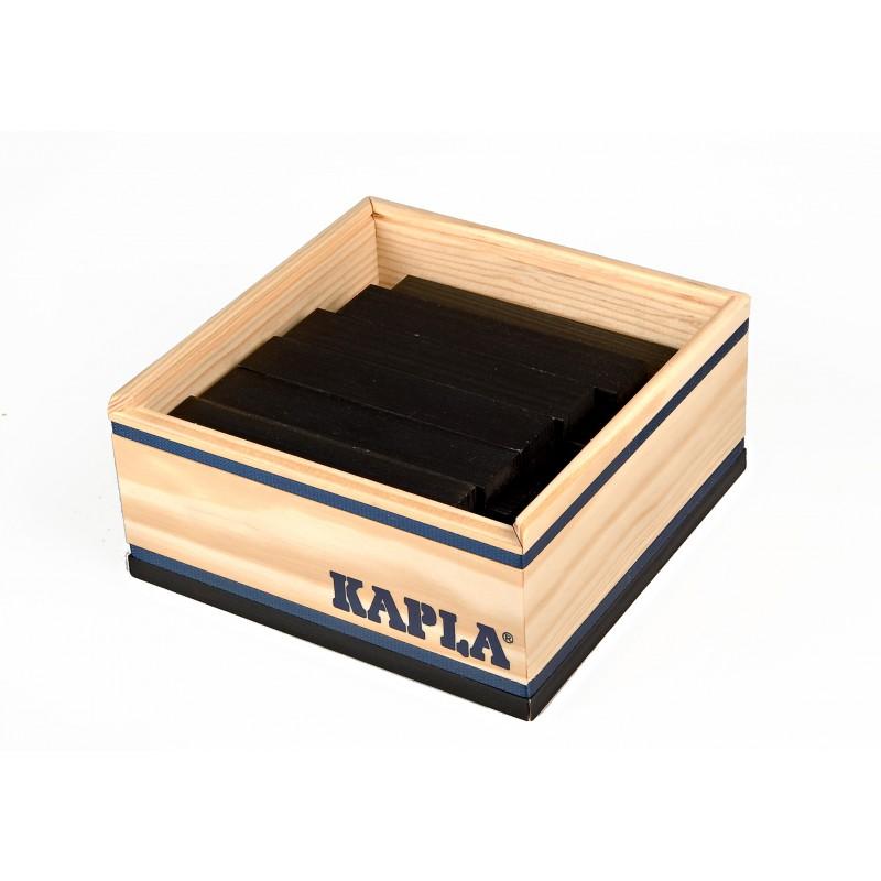 40 Kapla plankjes in kistje, zwart