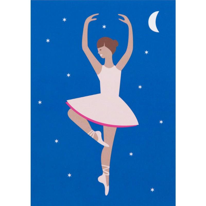 Schrijfset Ballerina bij nacht