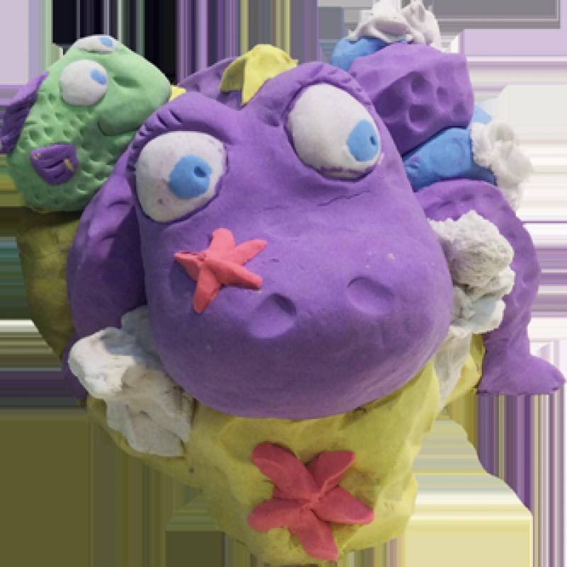Bubber paars - 200 gr met lepelmes