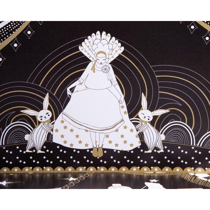 Zwart kleur- en plakboek Circus, Mon Petit Art