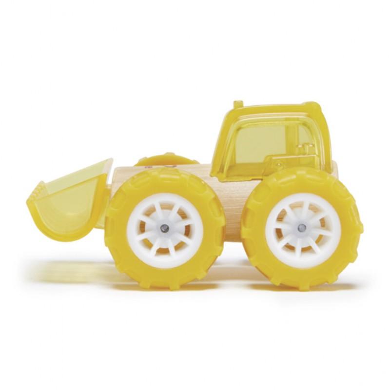 Bamboe auto Bulldozer, Hape