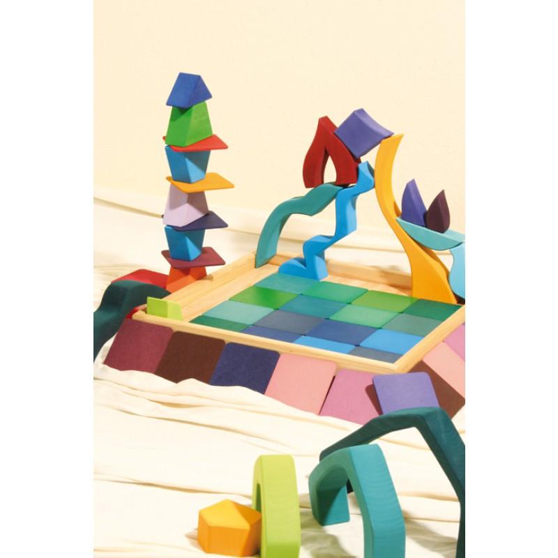 Gigantische houten blokkenpuzzel 4 elementen, Grimm's