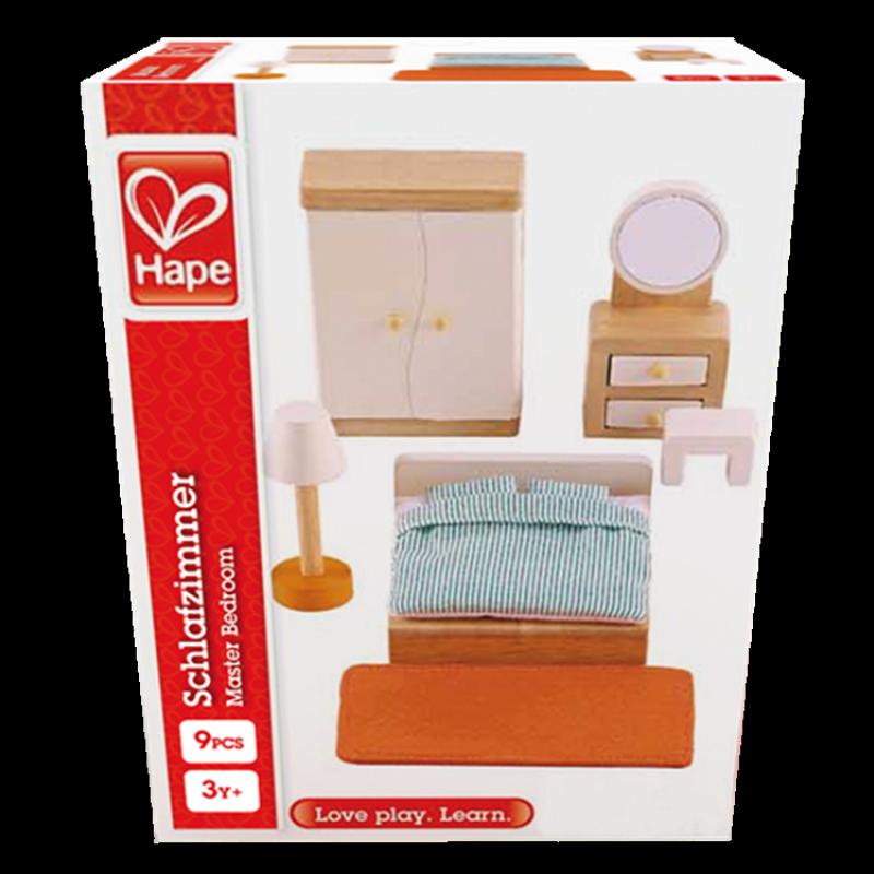 Slaapkamer poppenhuis, Hape