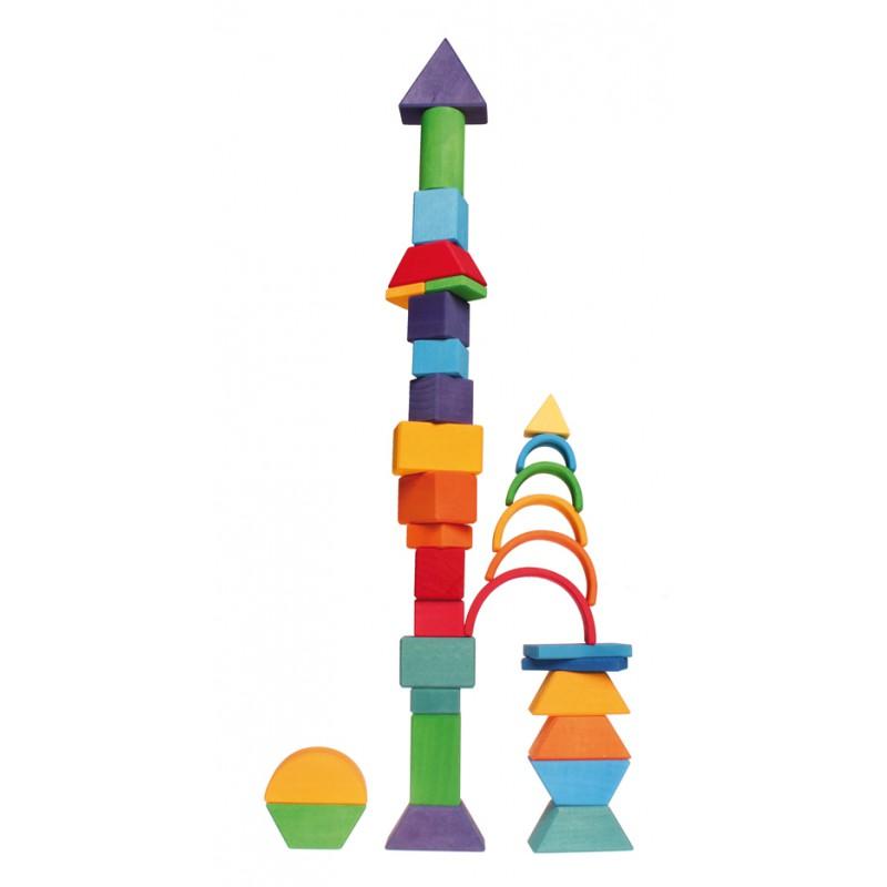 Kleine houten regenboog 6-delig, Grimm's