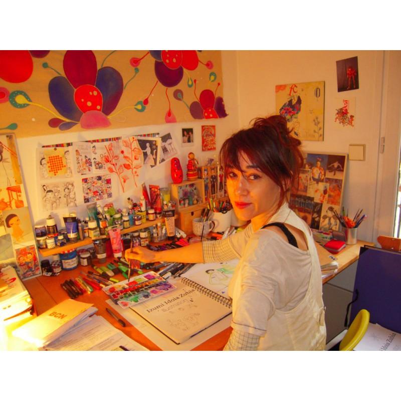 Kokeshis, 3D Color Box goud, Mon Petit Art