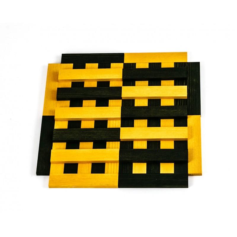 40 Kapla plankjes, groen en geel met voorbeeldboek
