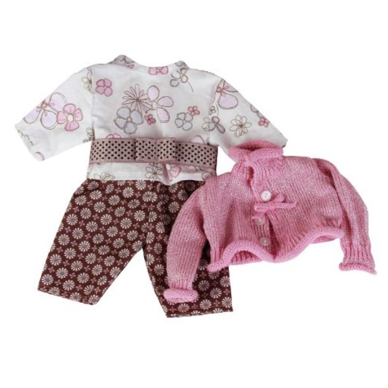 Roze-bruine kledingset babypop S, Goetz
