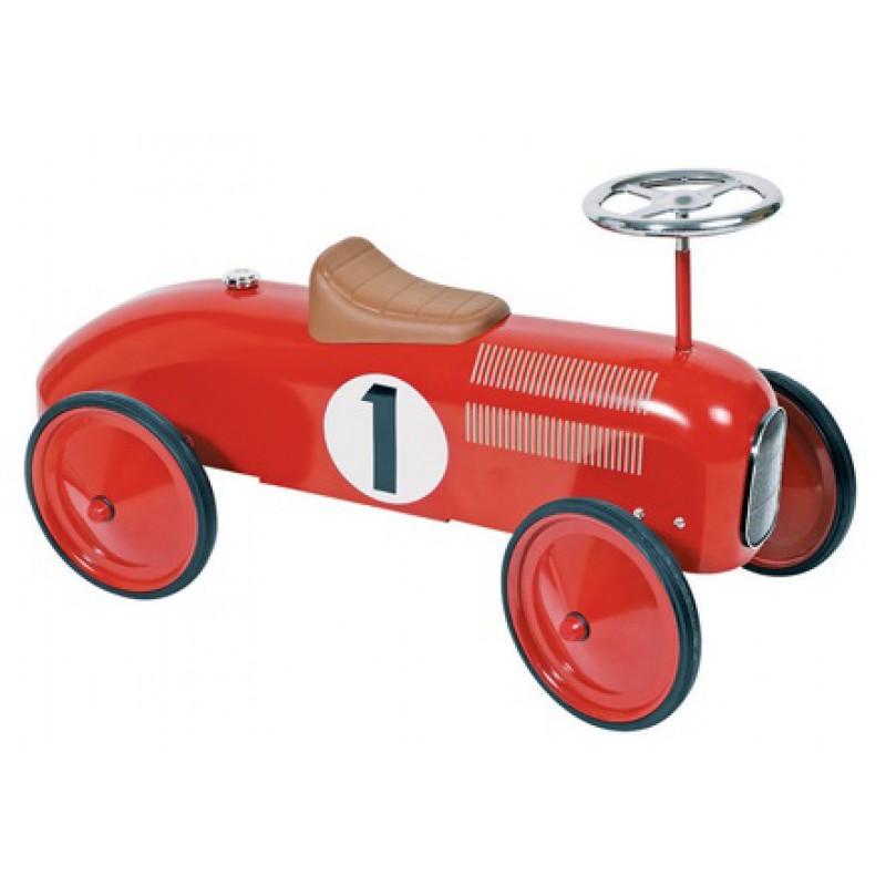 Metalen loopauto Grand Prix rood, Goki
