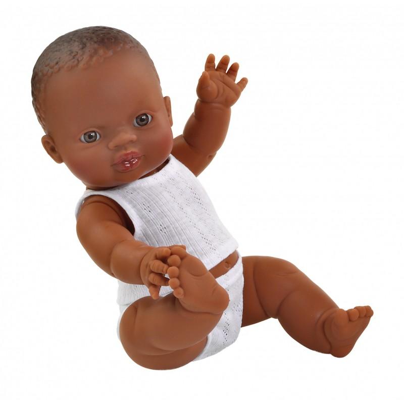 Babypop bruine jongen met ondergoed, Paola Reina