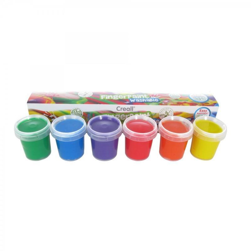 Vingerverf 6 kleuren, Creall