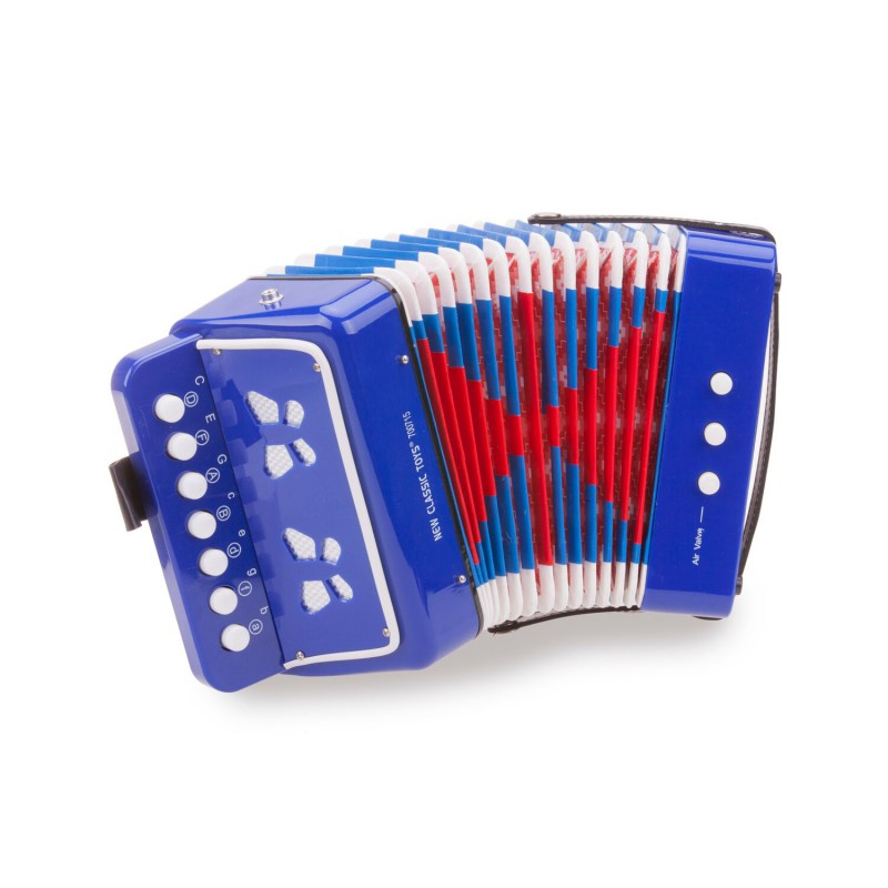 Accordeon, blauw