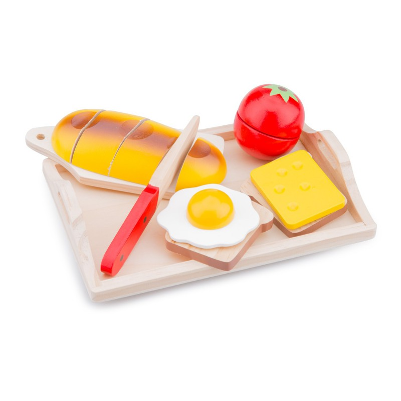 Houten speelgoed ontbijtset
