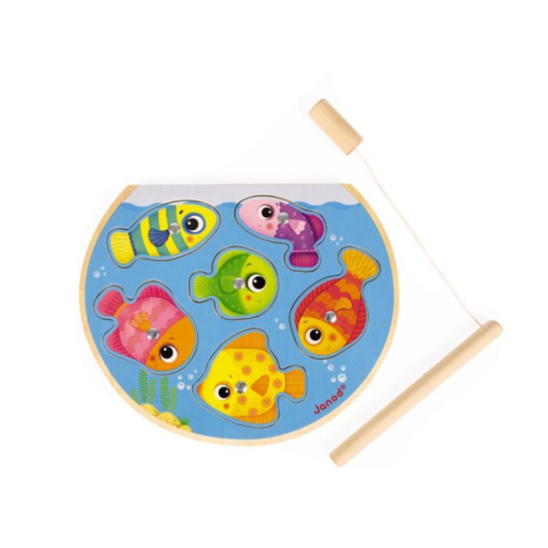 Puzzelspel Snelle vissen, Janod