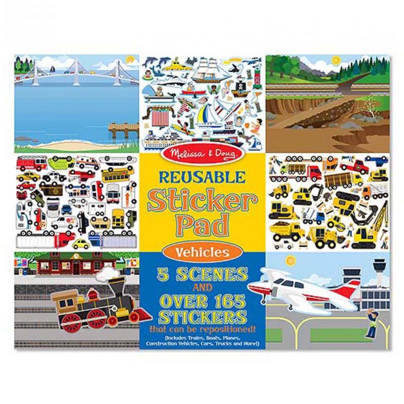 Herbruikbaar stickerblok Voertuigen, Melissa & Doug