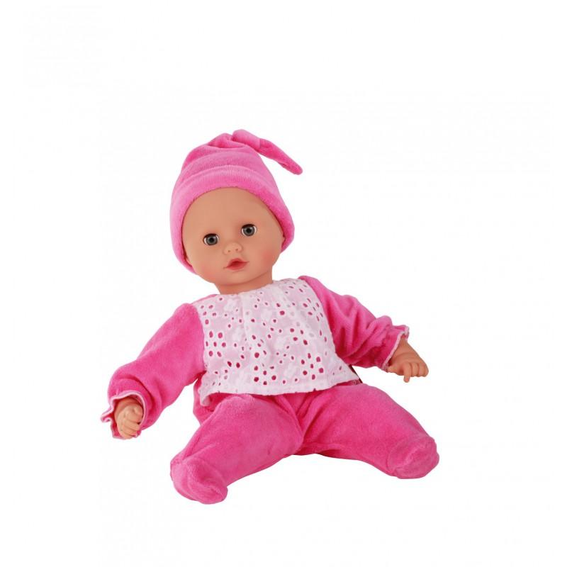 Babypop met donkerroze pakje, Goetz Muffin - S
