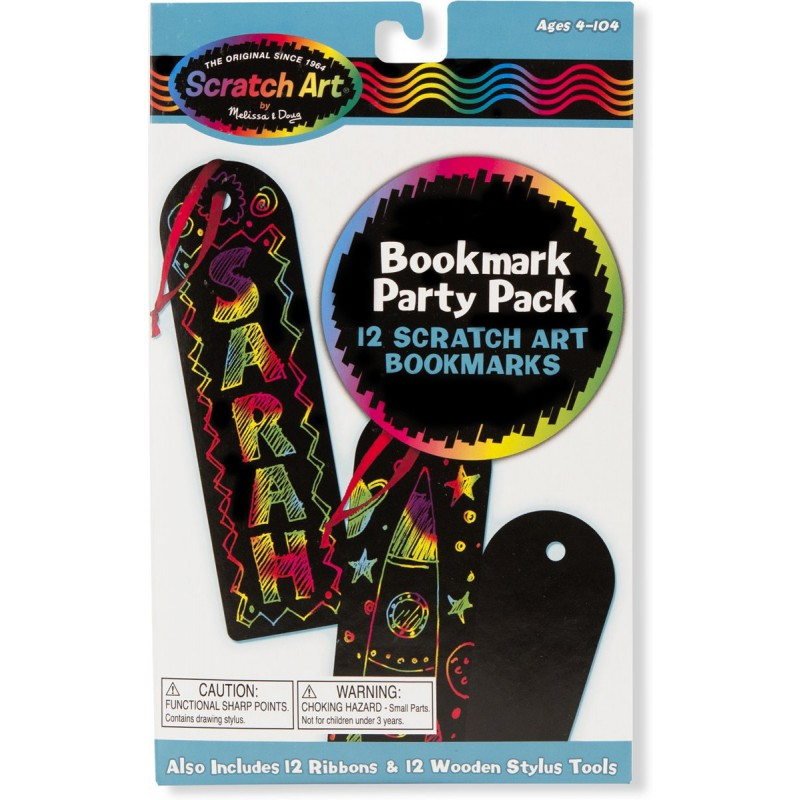 Scratch Art Party Pack boekenleggers, Melissa & DougScratch Art Party Pack boekenleggers, Melissa & Doug