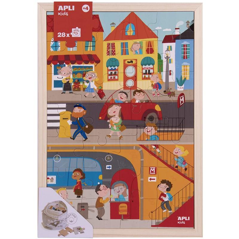 Houten puzzel Stad 28 st, Apli