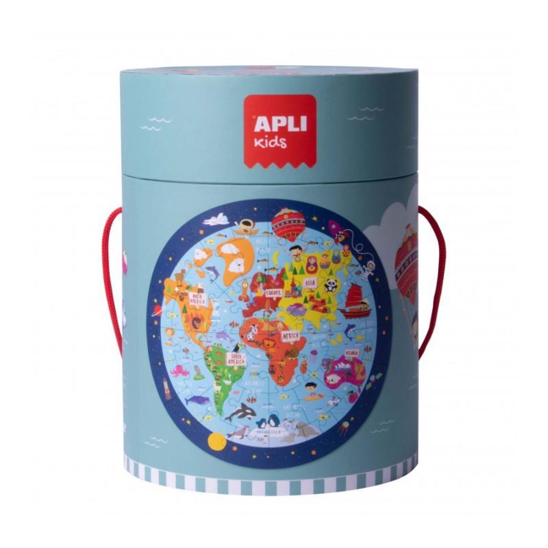 Ronde puzzel De Wereld 48 st, Apli