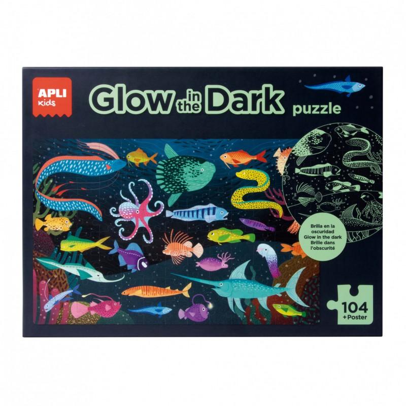 Glow in the Dark puzzel Oceaan, Apli