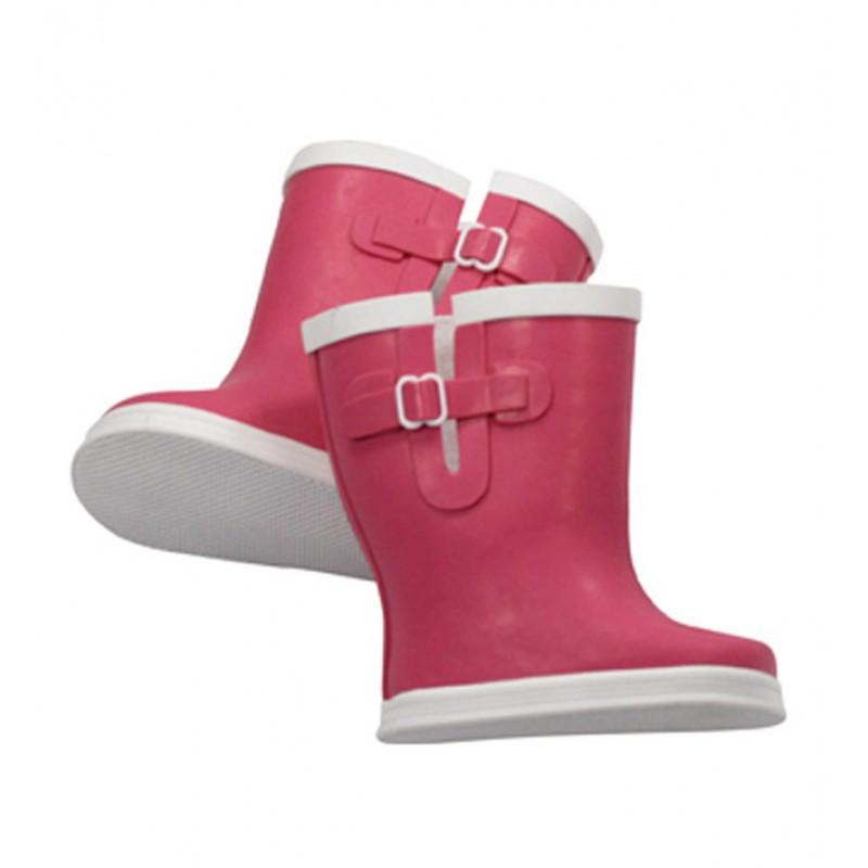 Roze regenlaarzen pop M en XL, Goetz