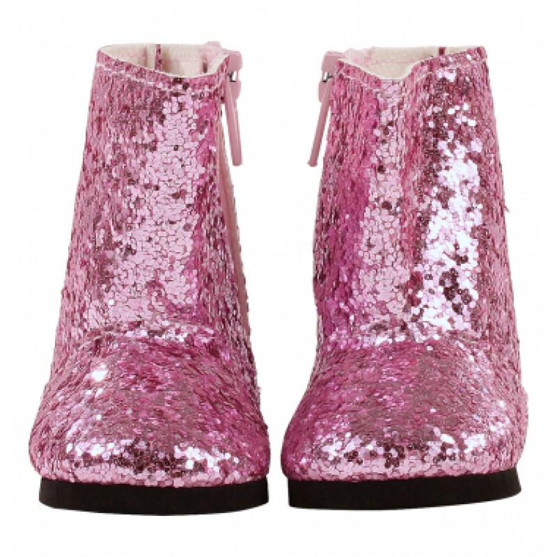Roze glitterlaarzen pop M, L en XL, Goetz