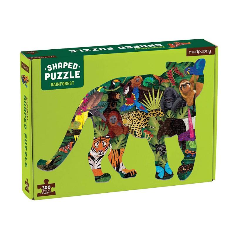 Shaped puzzel 300 st. Rainforest, Mudpuppy