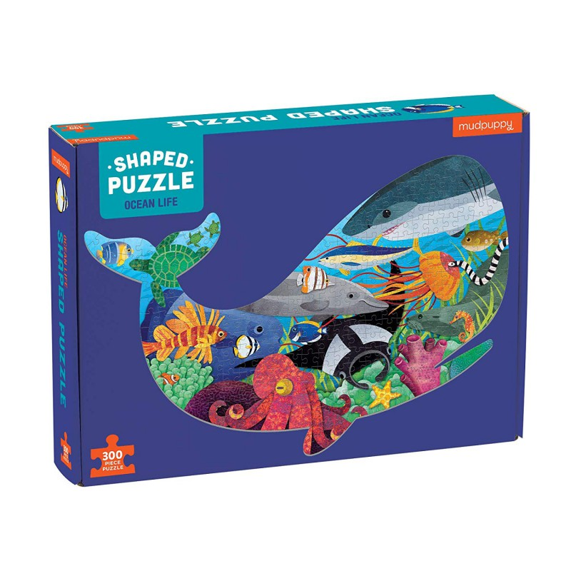 Shaped puzzel 300 st. Ocean Life, Mudpuppy