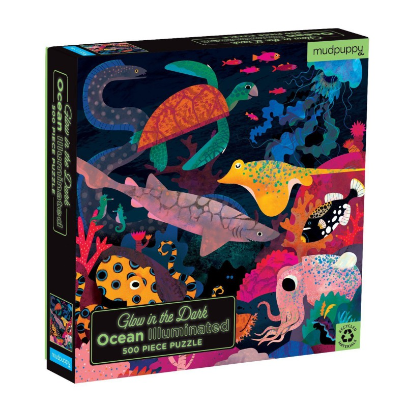 Glow puzzel Ocean 500 st., Mudpuppy