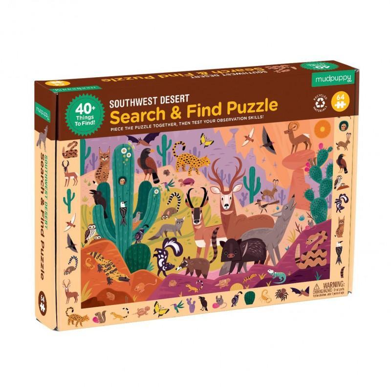 Zoek & vind puzzel Woestijn, Mudpuppy