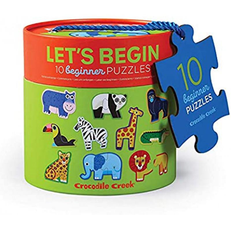 Let's Begin puzzels jungle 10 x 2 st, Crocodile Creek